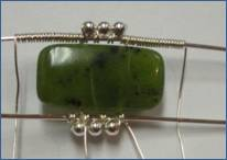Judy Larson's Double Delight Jade Bracelet - , Contemporary Wire Jewelry, Coiling, Coiling Wire, Wire Coiling, Jump Rings, Jump Ring, Making Jump Rings, Wire Wrapping, Wrapping, Wire Wrapping Jewelry, Adding more pieces.