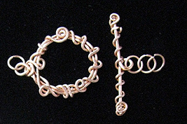 Albina Manning's Wire Wrapped Two-Loop Link - , Contemporary Wire Jewelry, Loops, Wire Loop, Wrapped Wire Loop, Wire Wrapping, Wrapping, Wire Wrapping Jewelry, Adding the finished ring to other components.