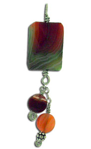 Dale Armstrong's Quick Bead and Wire Pendant - , Contemporary Wire Jewelry, Loops, Wire Loop, Wrapped Wire Loop, Wire Wrapping, Wrapping, Wire Wrapping Jewelry, Make a tiny rosette and add any accent beads.