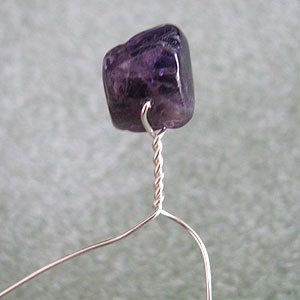 Albina Manning's Tree Pin with Gem Chips - , Contemporary Wire Jewelry, Wire Wrapping, Wrapping, Wire Wrapping Jewelry, Twist the wire.