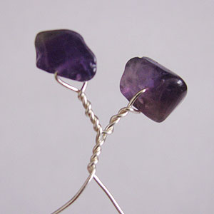 Albina Manning's Tree Pin with Gem Chips - , Contemporary Wire Jewelry, Wire Wrapping, Wrapping, Wire Wrapping Jewelry, Forming the branch.