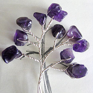 Albina Manning's Tree Pin with Gem Chips - , Contemporary Wire Jewelry, Wire Wrapping, Wrapping, Wire Wrapping Jewelry, Making another part.