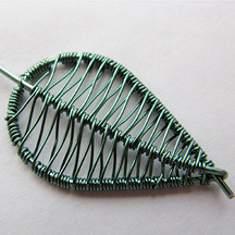 Albina Manning's Birch Leaf Earrings - , , , , , Continued Wrapping.