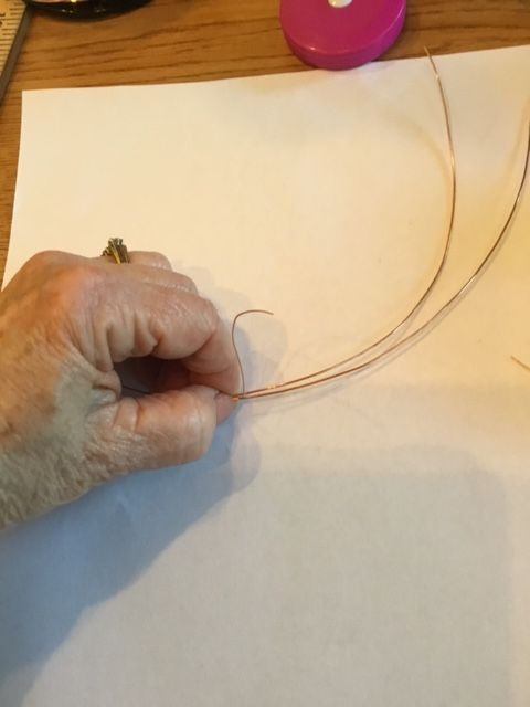 Karen Meador, Ph.D.'s Stone Twist Wrap - , Contemporary Wire Jewelry, Lashing, Wire Lashing, Wire Wrapping, Wrapping, Wire Wrapping Jewelry, bind the 2 wires