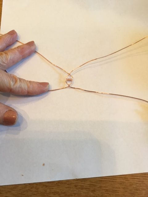 Karen Meador, Ph.D.'s Stone Twist Wrap - , Contemporary Wire Jewelry, Lashing, Wire Lashing, Wire Wrapping, Wrapping, Wire Wrapping Jewelry, cross the wires