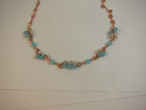 Karen Meador, Ph.D.'s Smile Cluster Necklace - , Contemporary Wire Jewelry, Coiling, Coiling Wire, Wire Coiling, Lashing, Wire Lashing, Spirals, Wire Spiral, Spiral Wire Wrap, Wire Wrapping, Wrapping, Wire Wrapping Jewelry, several shorter lengths