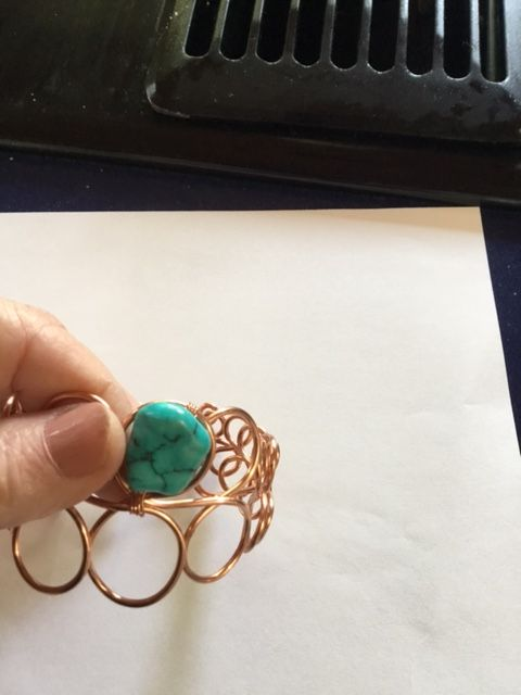 Karen Meador, Ph.D.'s Loopy Loo Graduated Wire Bracelet - , Contemporary Wire Jewelry, Loops, Wire Loop, Wrapped Wire Loop, Spirals, Wire Spiral, Spiral Wire Wrap, lash the wire