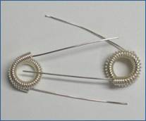 Judy Larson's Coiled Rosette Link - , Findings & Components, Toggles & Clasps, Earwire & Headpin, Coiling, Coiling Wire, Wire Coiling, Findings, Clasps, Components, Loops, Wire Loop, Wrapped Wire Loop, Spirals, Wire Spiral, Spiral Wire Wrap, Sterling Silver wire rosettes