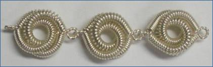 Judy Larson's Coiled Rosette Link - , Findings & Components, Toggles & Clasps, Earwire & Headpin, Coiling, Coiling Wire, Wire Coiling, Findings, Clasps, Components, Loops, Wire Loop, Wrapped Wire Loop, Spirals, Wire Spiral, Spiral Wire Wrap, Sterling silver rosettes