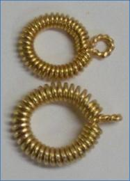 Judy Larson's Coiled Rosette Link - , Findings & Components, Toggles & Clasps, Earwire & Headpin, Coiling, Coiling Wire, Wire Coiling, Findings, Clasps, Components, Loops, Wire Loop, Wrapped Wire Loop, Spirals, Wire Spiral, Spiral Wire Wrap, Finished eye with 3 Step pliers