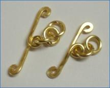 Judy Larson's Coiled Rosette Link - , Findings & Components, Toggles & Clasps, Earwire & Headpin, Coiling, Coiling Wire, Wire Coiling, Findings, Clasps, Components, Loops, Wire Loop, Wrapped Wire Loop, Spirals, Wire Spiral, Spiral Wire Wrap, Adding Jump Rings
