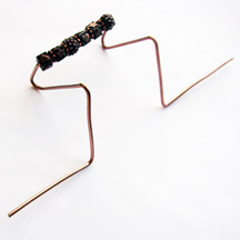 Albina Manning's Business Card Holder - , Hair Accessories, Zipper Pulls, Christmas Ornaments, Spirals, Wire Spiral, Spiral Wire Wrap, Using round nose plier to bend copper wire
