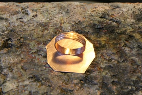 Judy Freyer Thompson's Freeform Metal Bezel Ring - , Metalwork, Forging, Forging Jewelry, Jewelry Forging, solder the ring