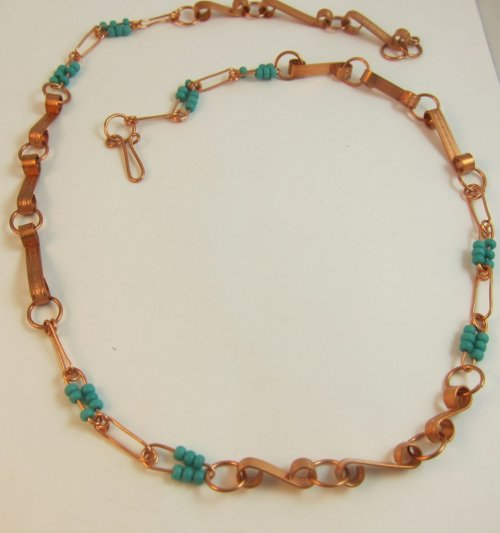 Karen Meador, Ph.D.'s Link-it Necklace - , Contemporary Wire Jewelry, Making Chain, Chain Making , chain necklace