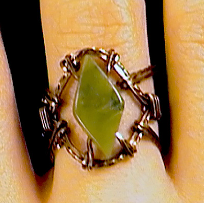 Brenda Sigafoos's Lady Luck Ring - , Classic Wire Jewelry, Wire Wrapping, Wrapping, Wire Wrapping Jewelry,