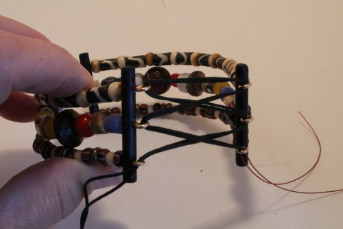 Judy Freyer Thompson's Corset Bracelet - , , , , thread the cord through the loops