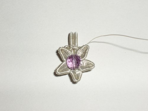 Abby Hook\'s Woven Wire Lotus Flower Pendant | Wire Weaving