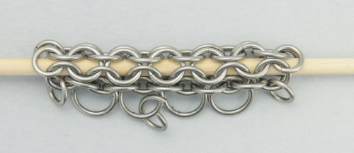 Kylie Jones's Round Maille and Leather Necklace - , Chain Maille Jewelry, Making Chain, Chain Making , add a smaller ring on larger two rings