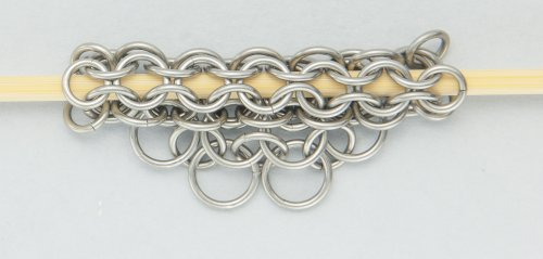 Kylie Jones's Round Maille and Leather Necklace - , Chain Maille Jewelry, Making Chain, Chain Making , close the smaller ring