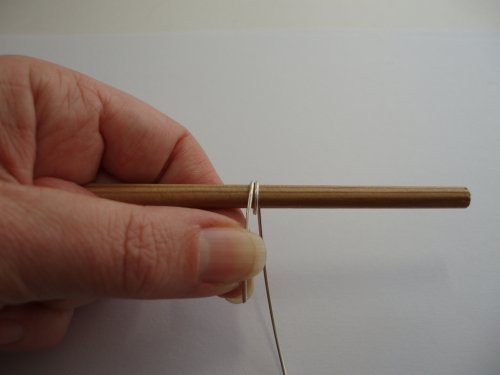 Abby Hook's Spiral Wire End Caps - Prepare the End Cap, , , wrap the wire around the mandrel