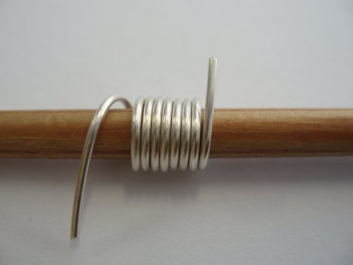 Abby Hook's Spiral Wire End Caps - Prepare the End Cap, , , wrap 7 coils