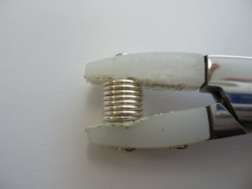 Abby Hook's Spiral Wire End Caps - Finish the Cap, , , squeeze the cap with nylon jaw pliers