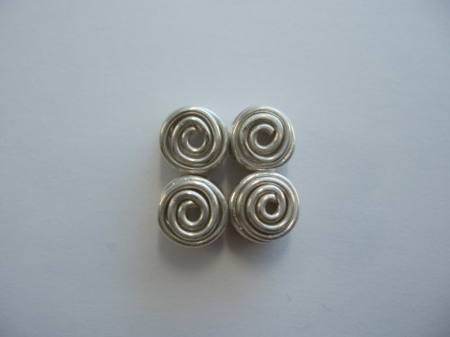 Abby Hook's Spiral Wire End Caps - Finish the Cap, , , finished caps