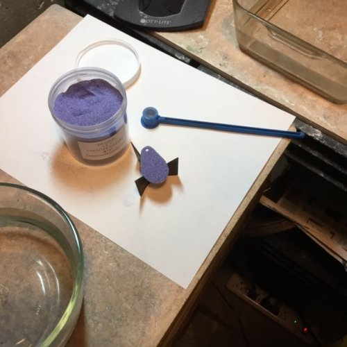 Karen Meador, Ph.D.'s Torch Enameling with Opaque Enamels - , Enameling, Enamel Jewelry Supplies, Butane Torch, Soldering, Solder, Enamel, Enameling, Enameled Jewelry, place on trivet