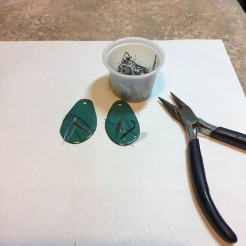 Karen Meador, Ph.D.'s Torch Enameling with Opaque Enamels - , Enameling, Enamel Jewelry Supplies, Butane Torch, Soldering, Solder, Enamel, Enameling, Enameled Jewelry, add threads