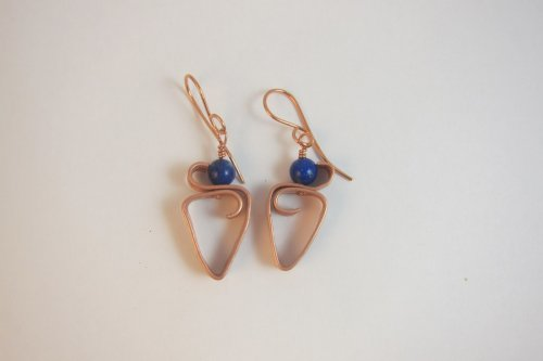 Karen Meador, Ph.D.'s Pattern Wire Earrings - , Contemporary Wire Jewelry, How To Punch Holes, Hole Punching, Punch A Hole, Wire Wrapping, Wrapping, Wire Wrapping Jewelry, Butane Torch, Soldering, Solder, add a bead and ear wire