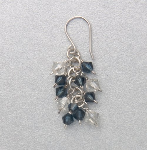 Kylie Jones's Crystal Burst Earrings - , Chain Maille Jewelry, Making Chain, Chain Making , Loops, Wire Loop, Wrapped Wire Loop,