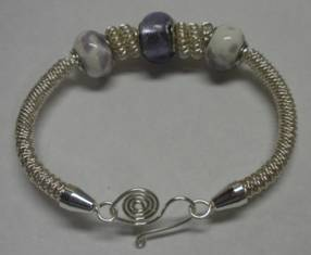 Judy Larson's How to Make a Wire Coil and Bead - , Classic Wire Jewelry, Coiling, Coiling Wire, Wire Coiling, Findings, Clasps, Components, Wire Wrapping, Wrapping, Wire Wrapping Jewelry, Coil bracelet