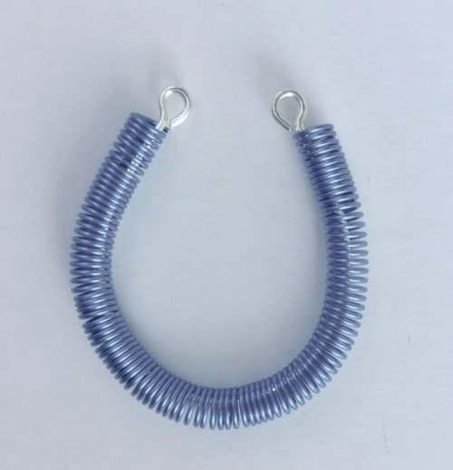 Kristal Wick's Coiled Blue Earrings - , Contemporary Wire Jewelry, Coiling, Coiling Wire, Wire Coiling, Loops, Wire Loop, Wrapped Wire Loop, coiled blue earrings