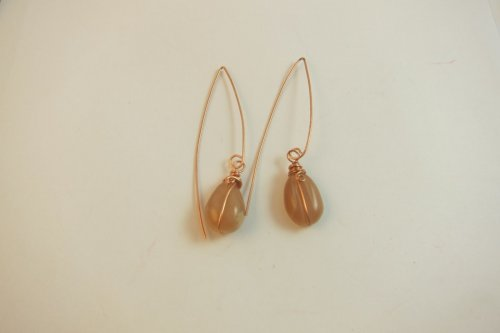 Karen Meador, Ph.D.'s Ellipse Earrings - , Contemporary Wire Jewelry, Coiling, Coiling Wire, Wire Coiling, Loops, Wire Loop, Wrapped Wire Loop, Wire Wrapping, Wrapping, Wire Wrapping Jewelry, ellipse earrings