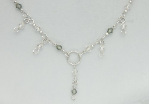 Kylie Jones's Swarovski Crystal Necklace with Half Persian 4 in 1 chain maille.  - , Chain Maille Jewelry, Making Chain, Chain Making , attach the dangles
