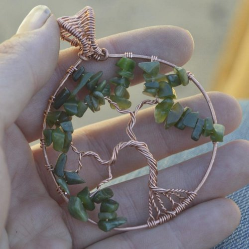 Deborah Kelly's Tree of Life Pendant - , Contemporary Wire Jewelry, Weaving, Wire Weaving, Weaving Wire, , tree of life