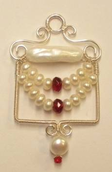 Swagged Pearl Pendant