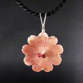 Sherrie Lingerfelt's Solitary Flower Pendant, Classic Wire Jewelry. Wire Wrapping, Wrapping, Wire Wrapping Jewelry. A solitary flower can symbolize a lot of things; to me this pendant means spring, summer, life, growth, and just honest beauty.