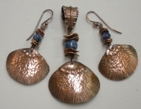 Clamshell Earrings and Pendant