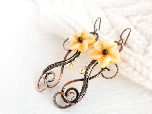 Bloom Wire Earrings Wire Jewelry Tutorial