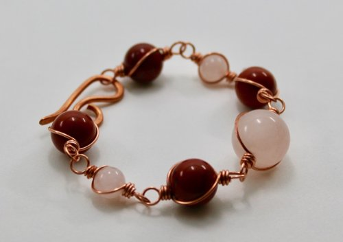 Wire-wrapped Bead Link Bracelet