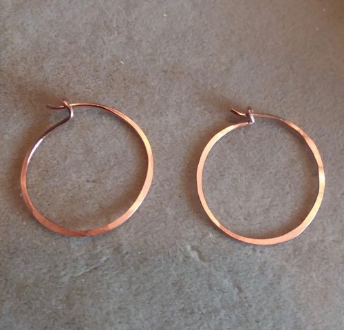 Easy Hammered Hoop Earrings