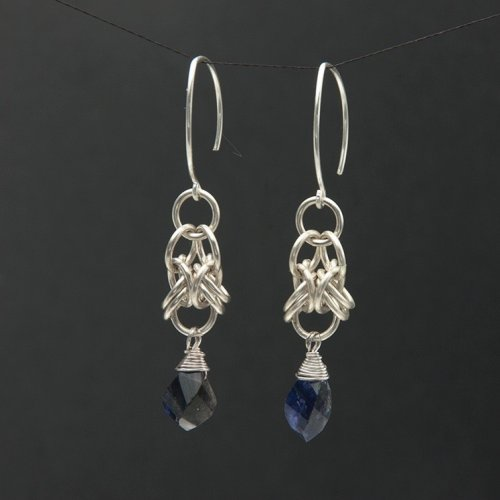 Kylie Jones's Orbital Chain Maille Earrings, Chain Maille Jewelry. Making Chain, Chain Making . This chain maille weave has