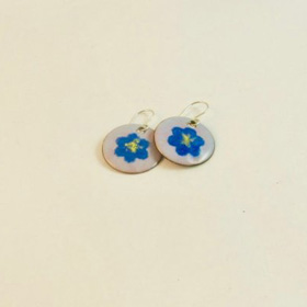 Torch Enameled Stencil Earrings