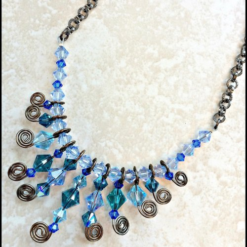 Whirly Twirly Bling Necklace