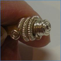 Judy Larson's Coiled End Caps, Findings & Components, Toggles & Clasps, Earwire & Headpin. Coiling, Coiling Wire, Wire Coiling, Findings, Clasps, Components, Spirals, Wire Spiral, Spiral Wire Wrap. Today's free pattern is a follow up from  a previous post called Charting Your Creations where Judy shared several helpful wire charts for creating this pattern- this is the pattern that we referred to in the post.