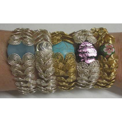 Coiled Wire Jewelry Series  Part 3 - Focal Bead Bracelet