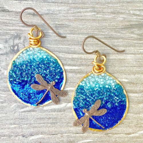 Ombre Wire Resin Earrings