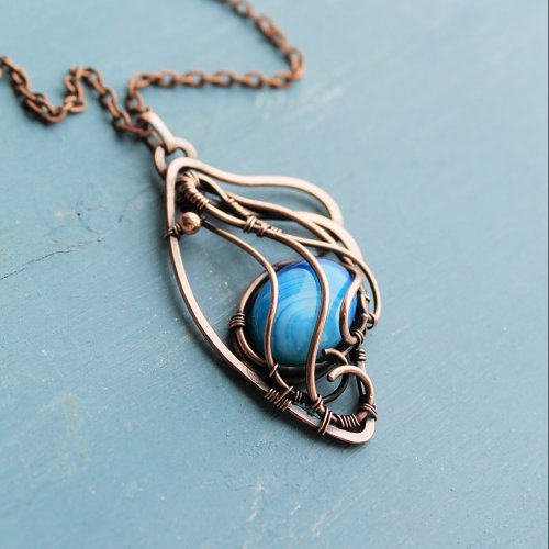 Butterfly Wing Copper Pendant