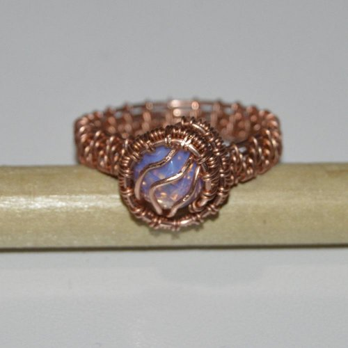 Woven Ring with Cabochon